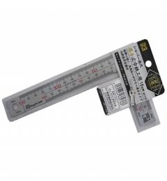 Thước ke vuông mạ nhũ bạc 15cmx5cm Niigata